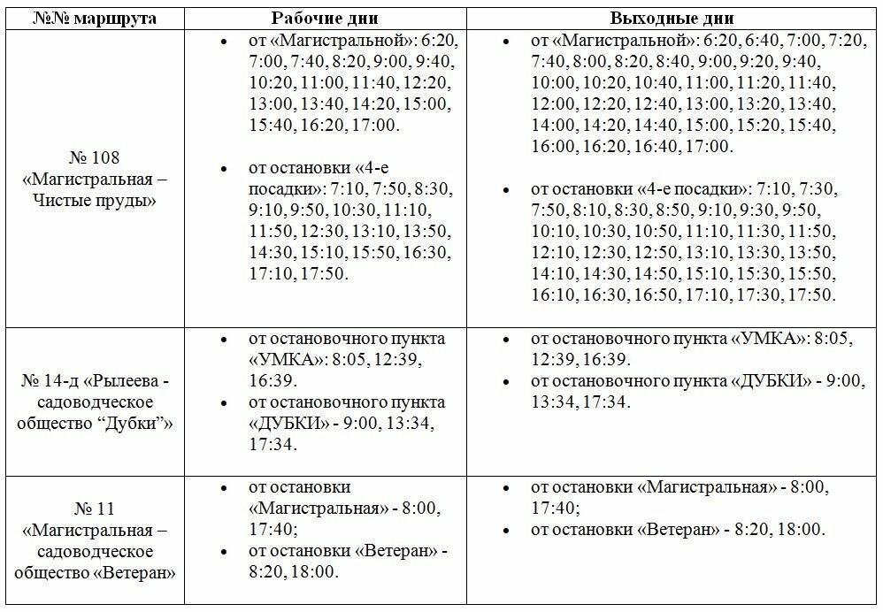 Расписание пригородных автобусов на дачный сезон 2019 года в Тамбове и в Тамбовском районе, фото-1