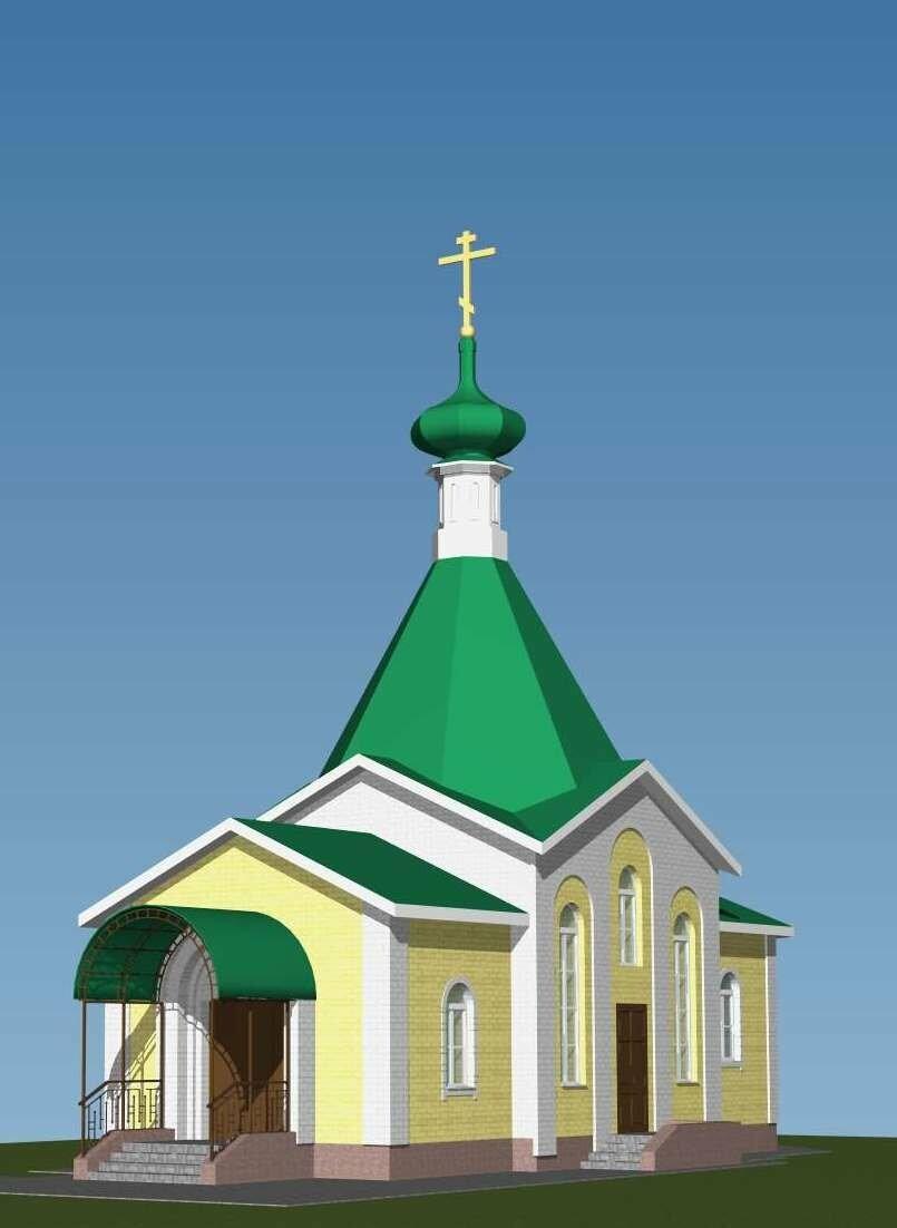 Эскиз храма-часовни уже готов. Сооружение будет скромным, но в нем будут соблюдены все каноны строительства православных храмов.