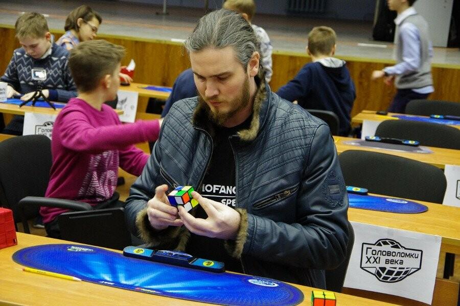 Алексей Ярыгин на соревнованиях по спидкубингу