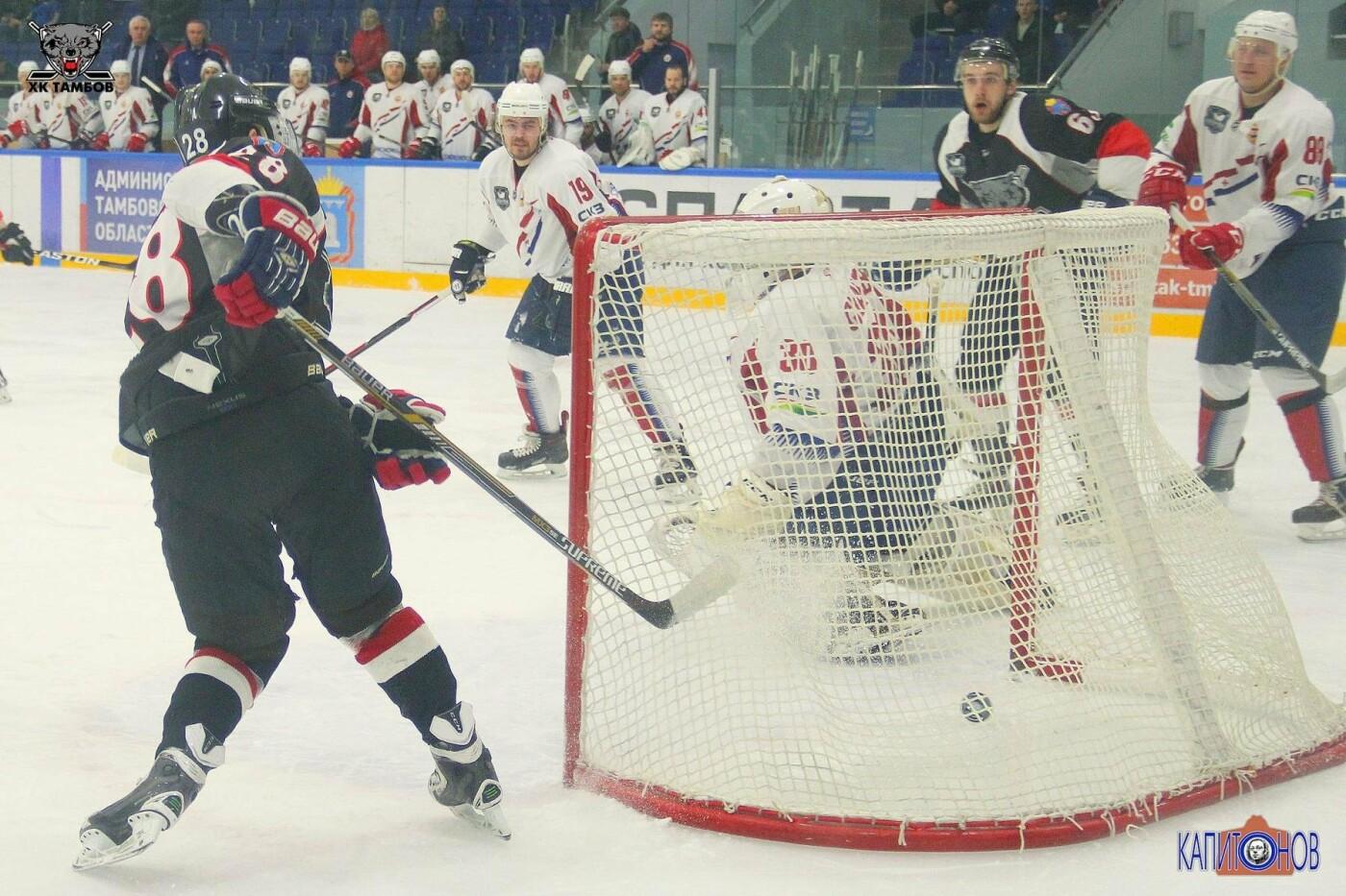 ХК «Тамбов» третий раз в полуфинале плей-офф сравнивает счет в серии , фото-1