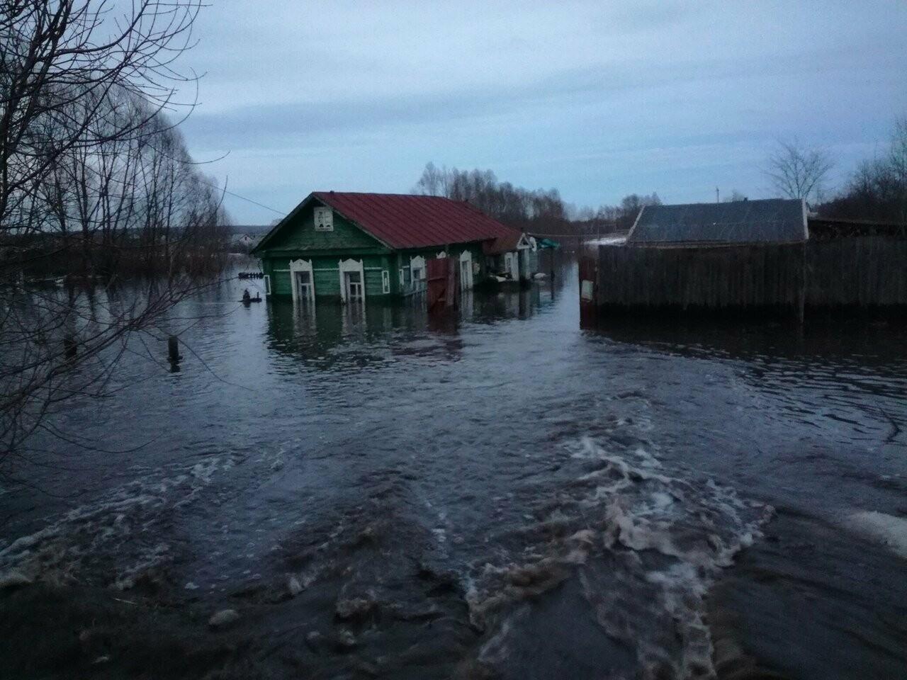 Частный сектор в Моршанске уходит под воду, фото-1