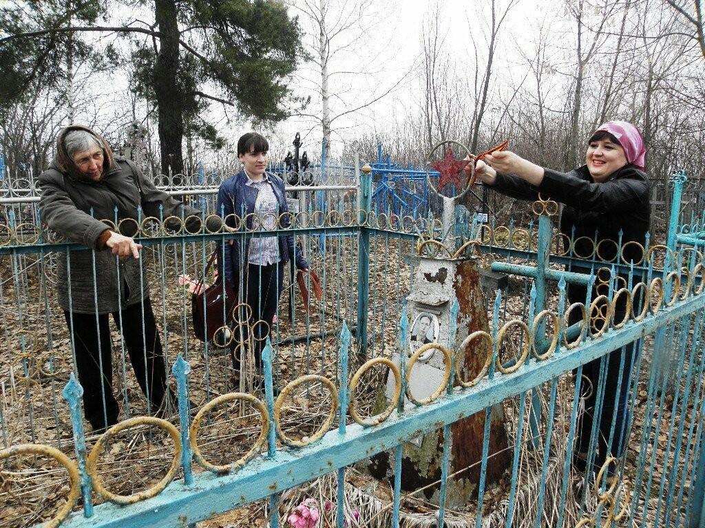 На Тамбовщине брошенные могилы фронтовиков отметили георгиевскими лентами, фото-1