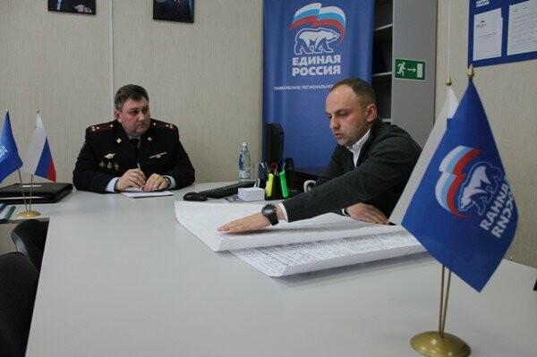 Альберт Дорожкин на приеме у главы регионального ГИБДД Олега Демина