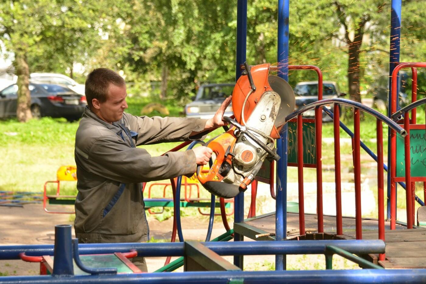 В Тамбове до 5 июня снесут детскую площадку под ЛЭП, фото-1