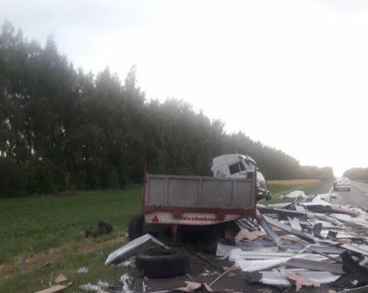 В Тамбовской области произошли две аварии с участием большегрузов, фото-1