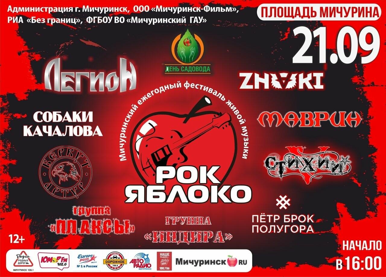 В Мичуринске впервые пройдёт фестиваль «Рок-Яблоко», фото-1