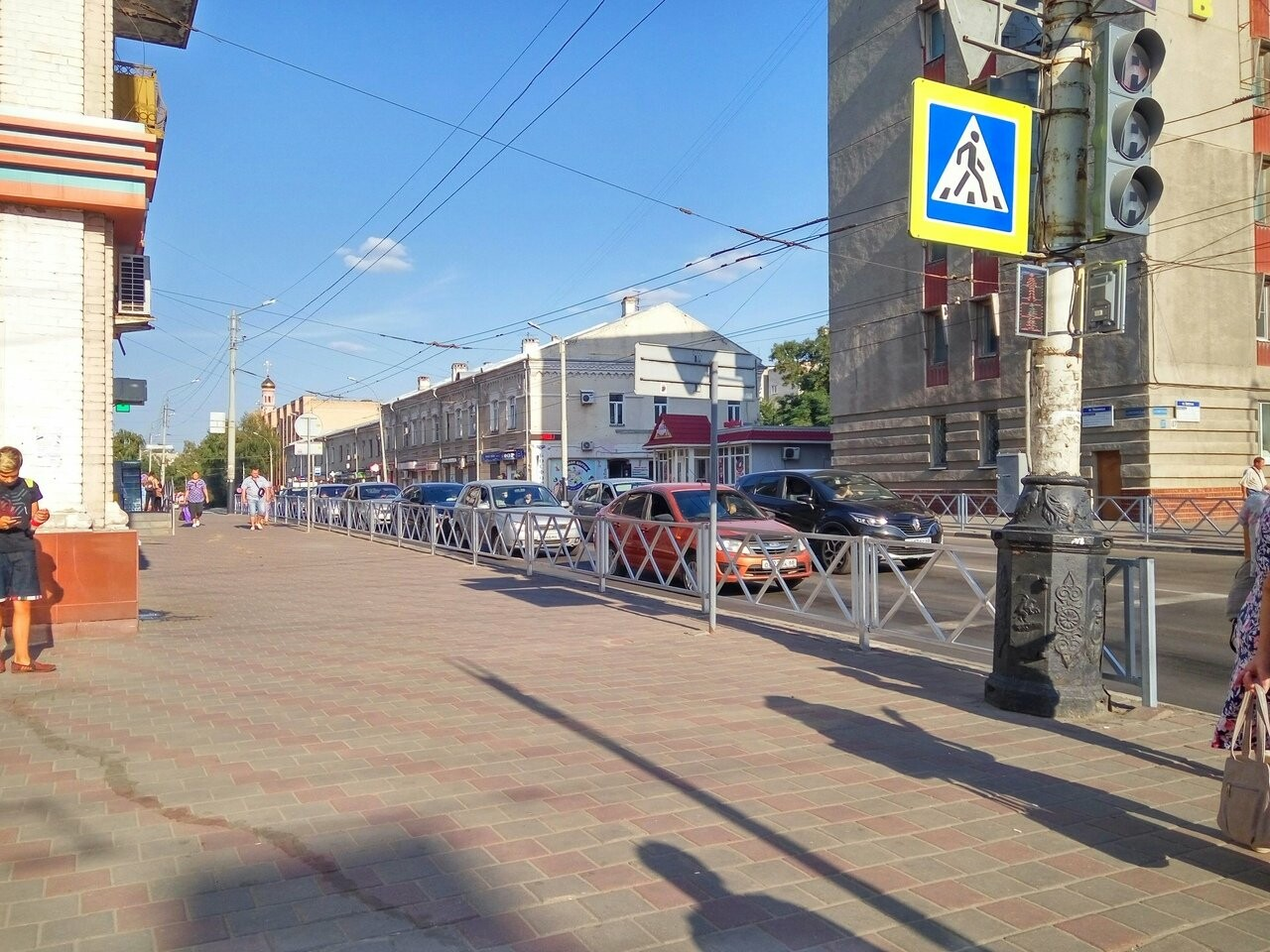 На пересечении Московской и Советской в Тамбове установили ограждения, фото-1