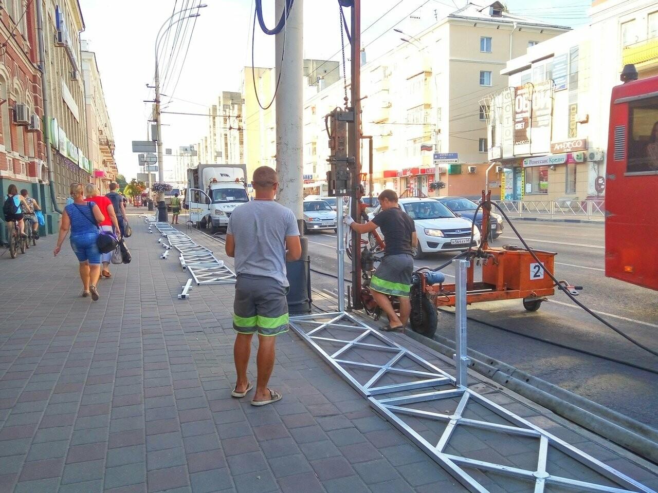 На пересечении Московской и Советской в Тамбове установили ограждения, фото-4