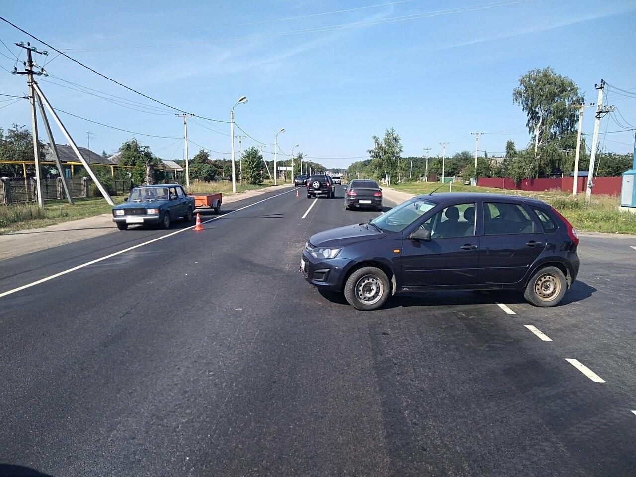 В Тамбовском районе автоледи на «Lada Kalina» врезалась в иномарку, фото-1