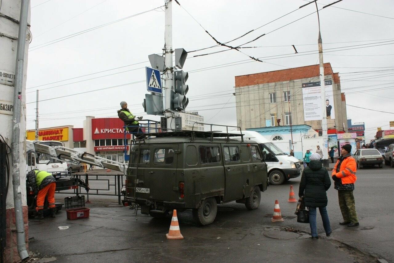 В центре Тамбова начали менять светофоры, фото-1