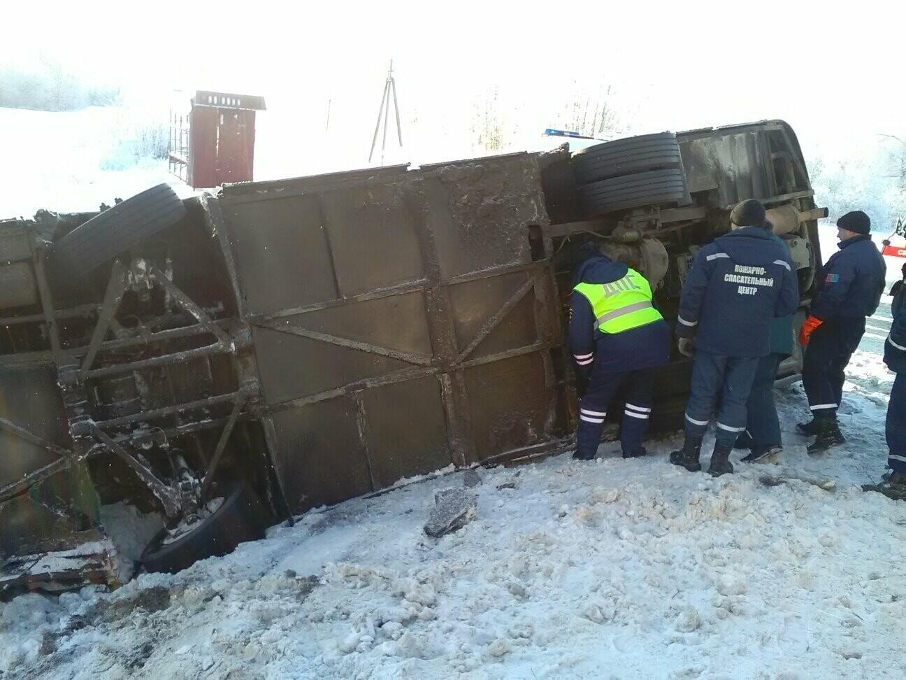 В Тамбовском районе перевернулся автобус с 12 пассажирами , фото-1