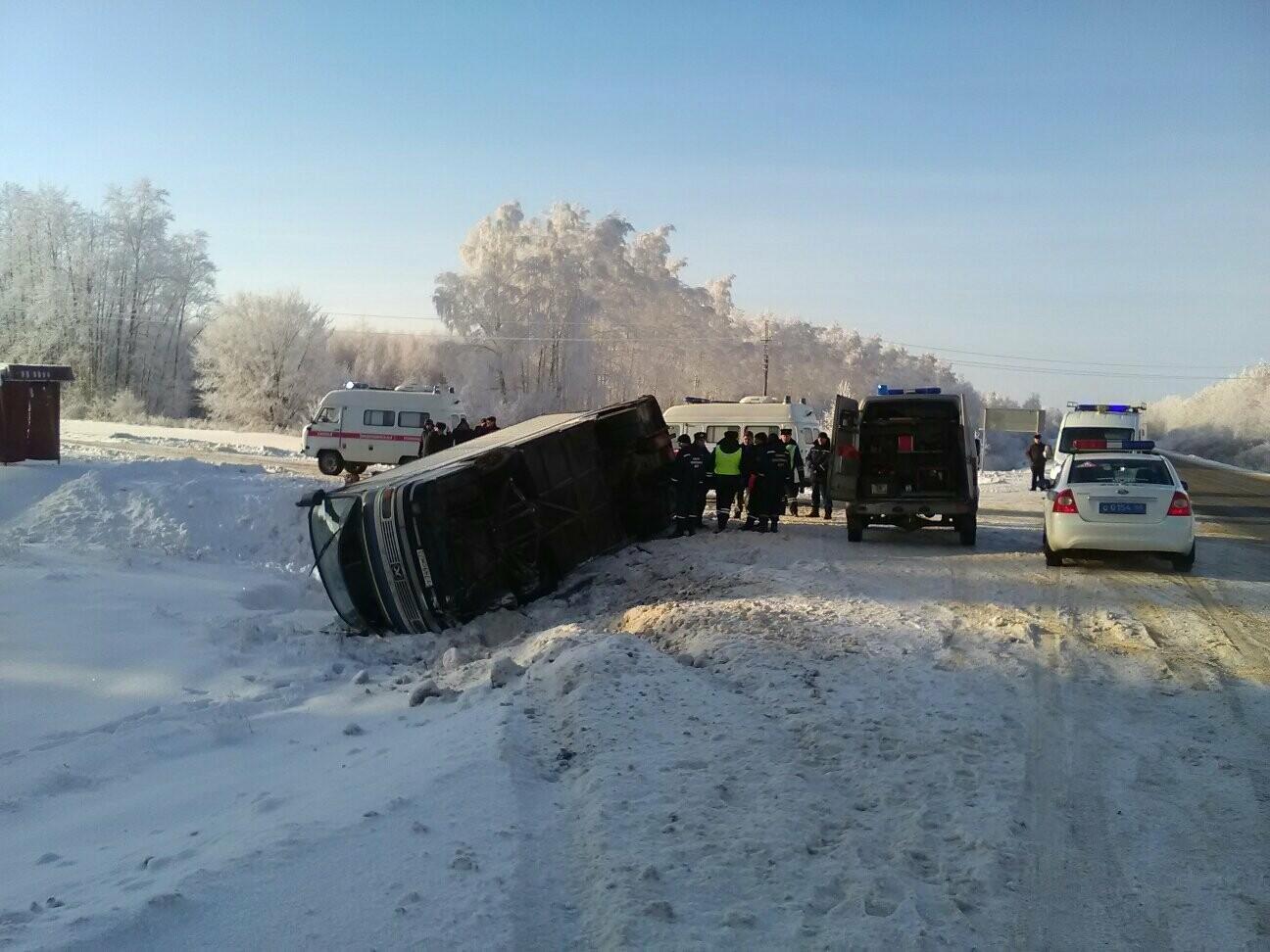 В Тамбовском районе перевернулся автобус с 12 пассажирами , фото-3