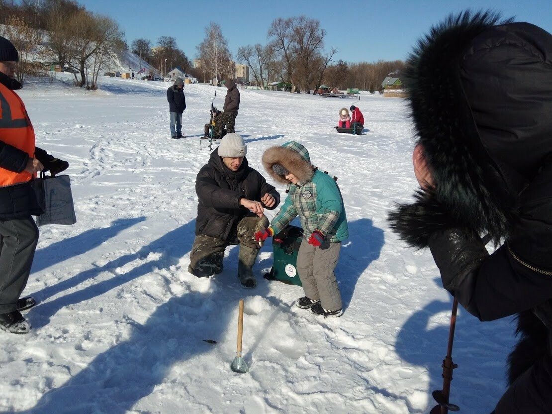 Ни хвоста, ни чешуи: в Тамбове провели детские соревнования по зимней рыбалке, фото-4