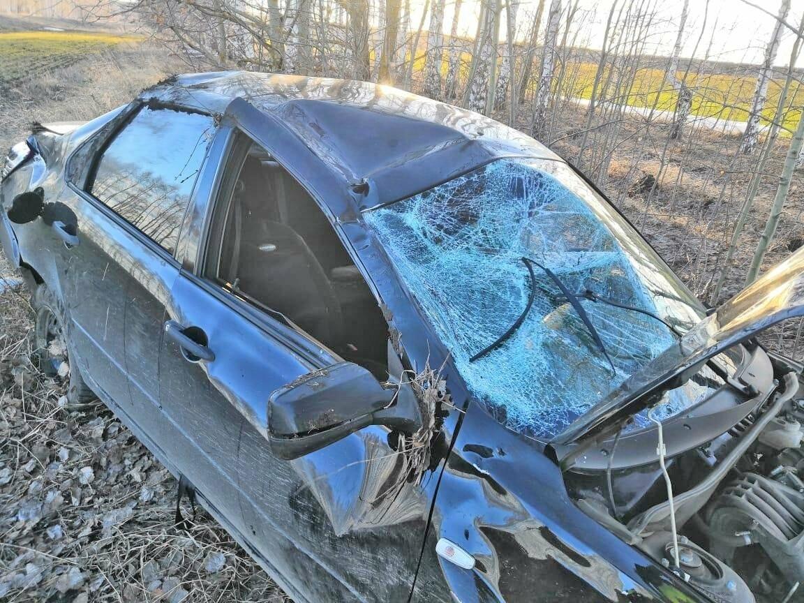 Тамбовчанка за рулем «Datsun» перевернулась на трассе, фото-1