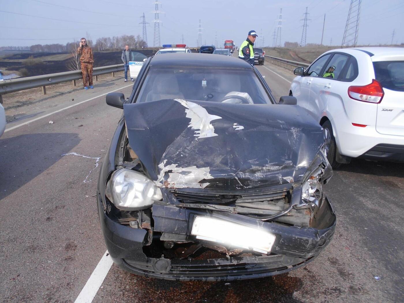 На Северном обходе Тамбова при столкновении четырех машин пострадал грудной ребенок, фото-1