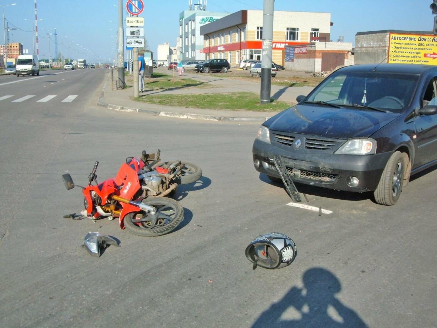 В Тамбовской области два мотоциклиста попали в больницу после ДТП, фото-1