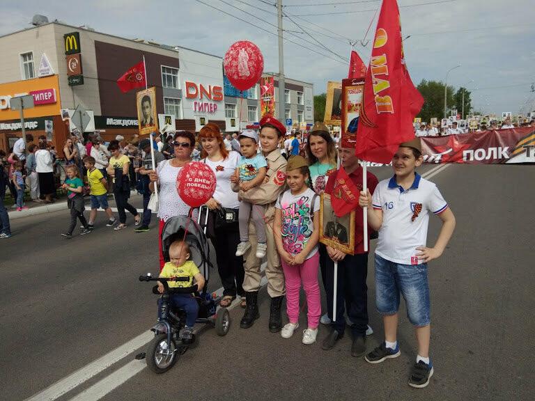 Почти 70 тысяч тамбовчан приняли участие в шествии «Бессмертного полка», фото-3