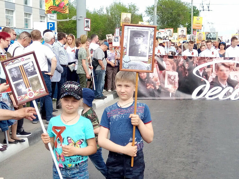 Почти 70 тысяч тамбовчан приняли участие в шествии «Бессмертного полка», фото-4
