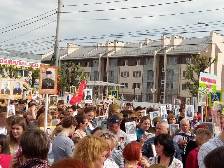 Почти 70 тысяч тамбовчан приняли участие в шествии «Бессмертного полка», фото-6
