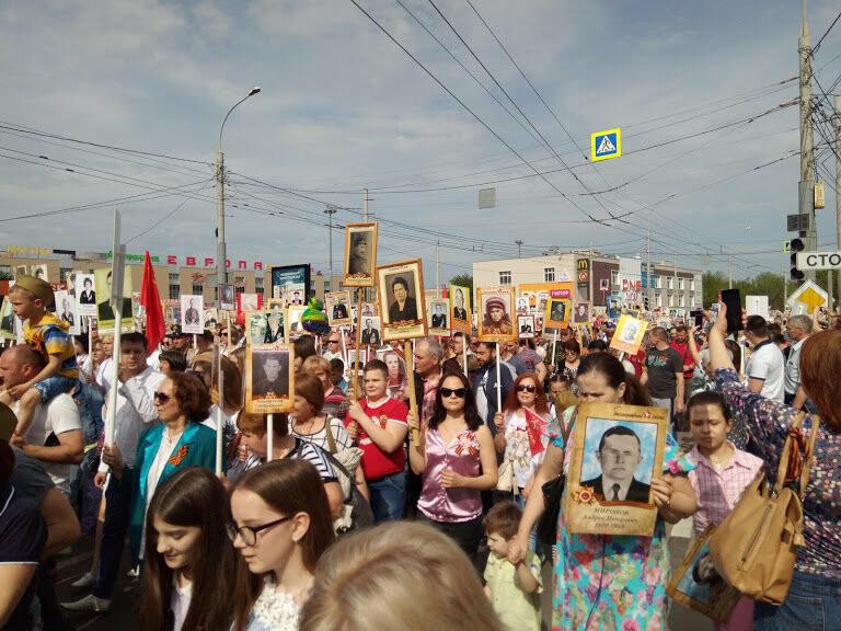Почти 70 тысяч тамбовчан приняли участие в шествии «Бессмертного полка», фото-10