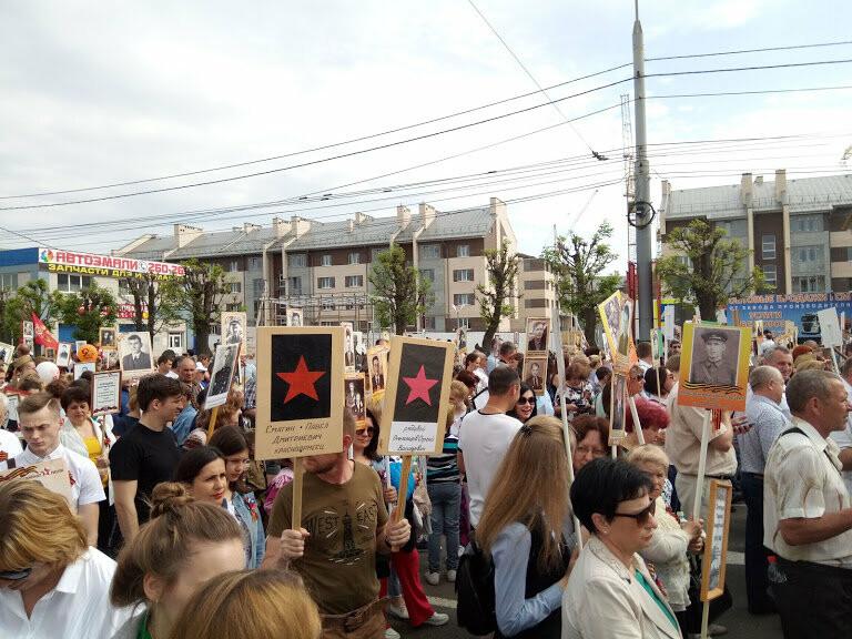 Почти 70 тысяч тамбовчан приняли участие в шествии «Бессмертного полка», фото-13