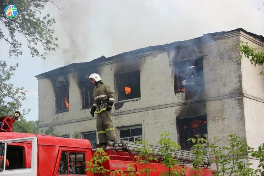 В Рассказове загорелось здание учебного заведения. ВИДЕО, фото-1