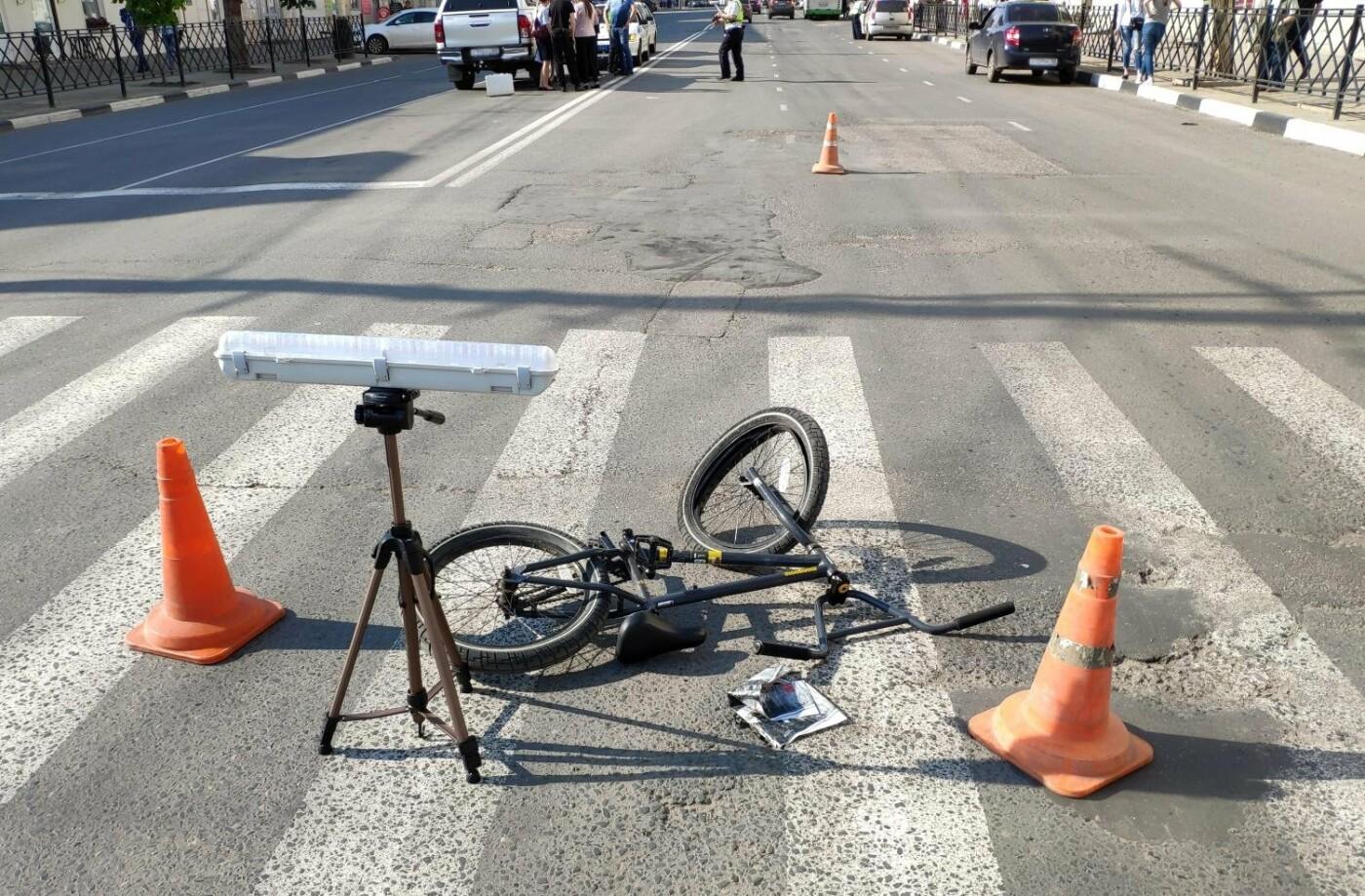 В Тамбове шестиклассник на велосипеде врезался в пикап, фото-1