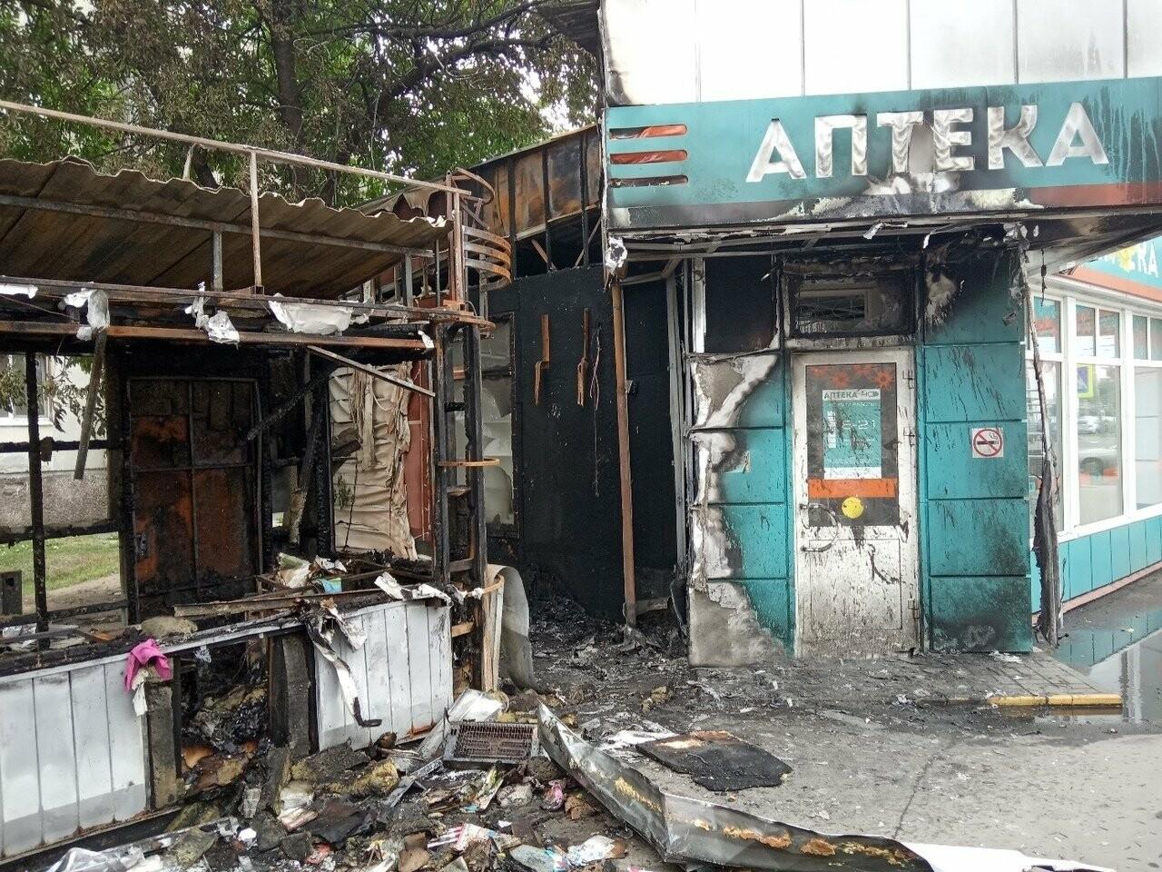 Ночью в центре Тамбова сгорел ларек, фото-2