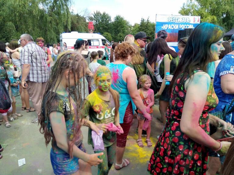 Тамбовчан раскрасили во все цвета радуги в парке Победы, фото-6