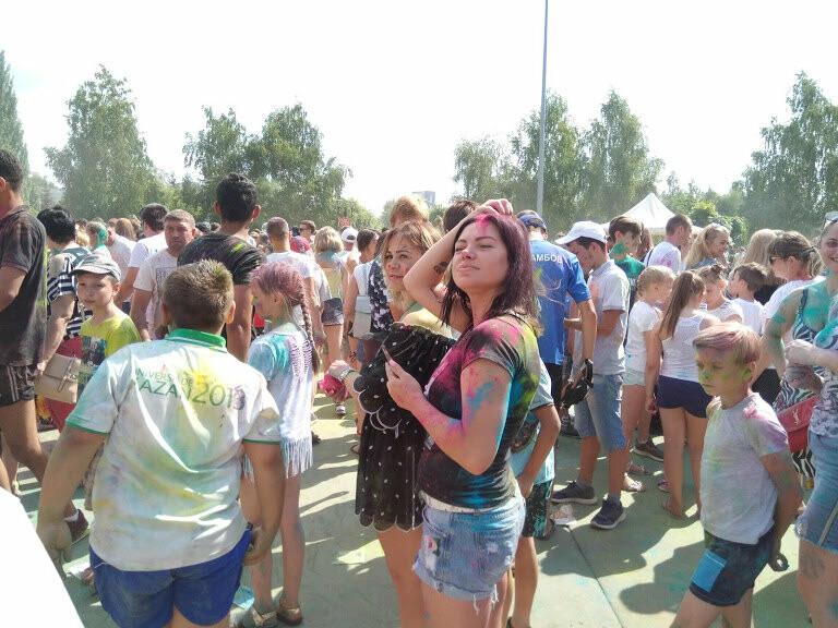 Тамбовчан раскрасили во все цвета радуги в парке Победы, фото-8