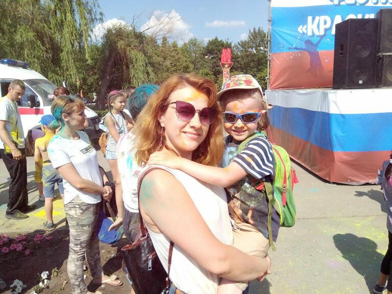 Тамбовчан раскрасили во все цвета радуги в парке Победы, фото-11