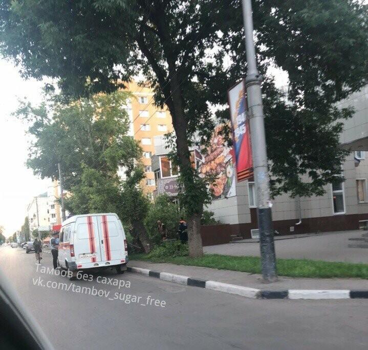 В центре Тамбова упавшее дерево придавило две иномарки, фото-1