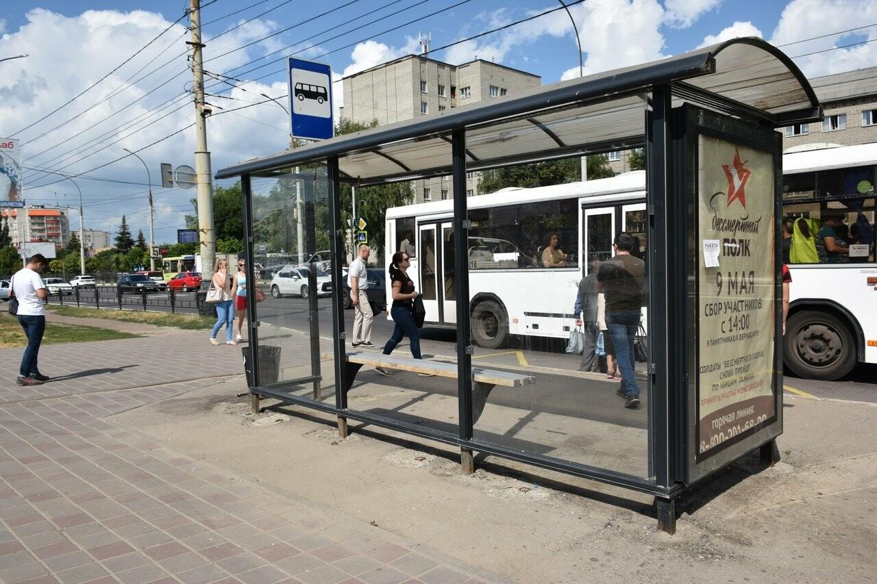 В Тамбове вандалы вновь разбили остановку общественного транспорта, фото-2