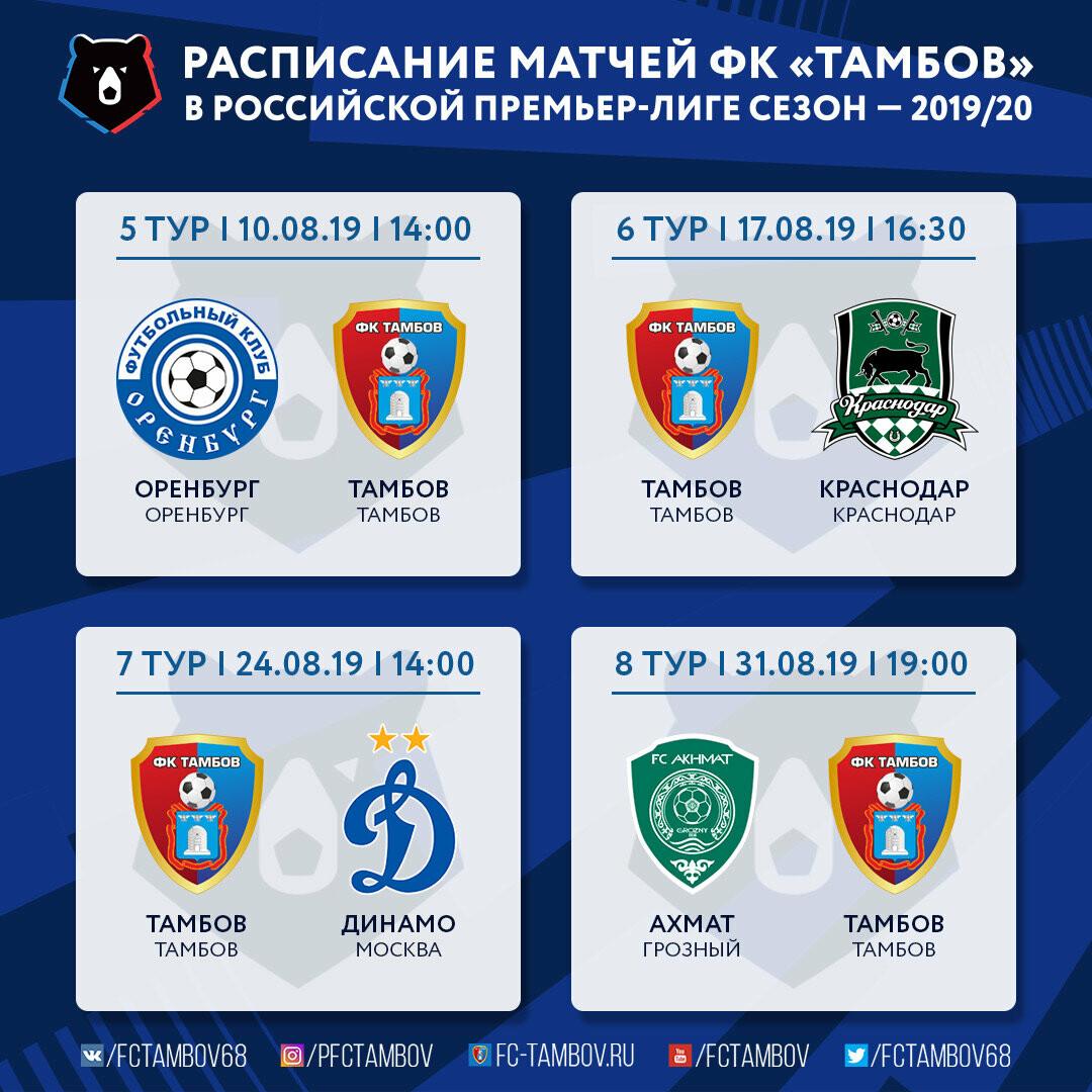 Стали известны даты игр ФК «Тамбов» в первых восьми турах, фото-2