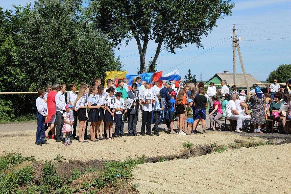 В селе Верхнее Нащекино Бондарского района открыли мемориальный комплекс, фото-4