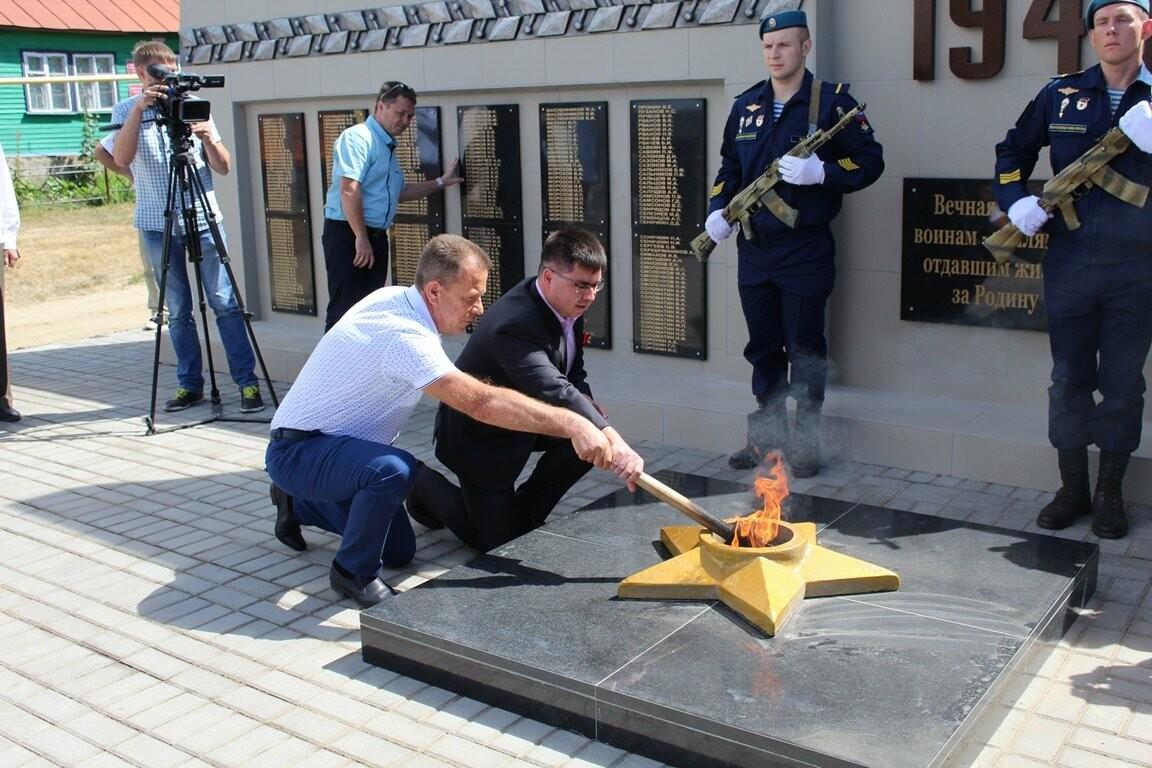 В селе Верхнее Нащекино Бондарского района открыли мемориальный комплекс, фото-2