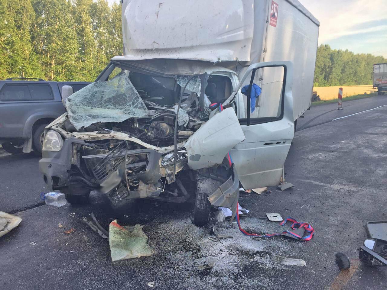 В Тамбовской области «ГАЗель» протаранила стоящую легковушку: водителя госпитализировали, фото-1