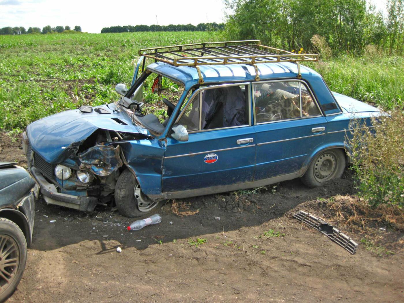 В Тамбовской области в поле столкнулись две легковушки: пострадали три человека, фото-1