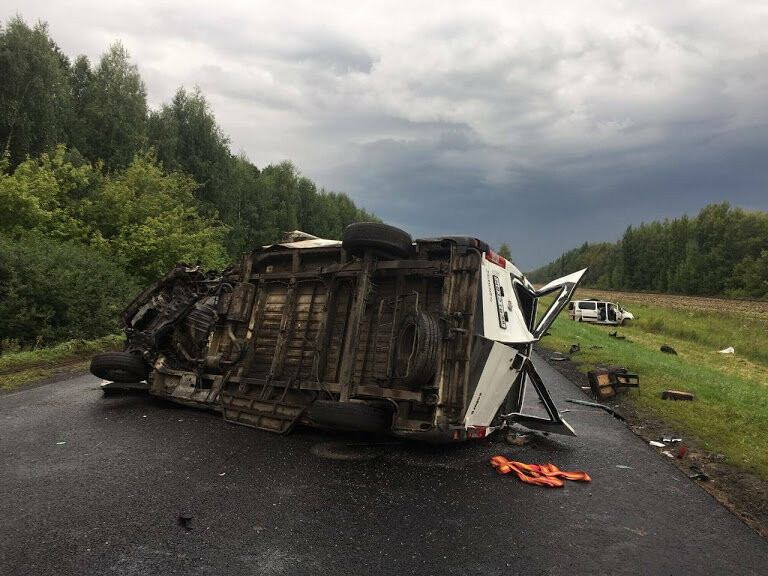 В Тамбовской области столкнулись два автобуса: 5 человек погибли. ВИДЕО, фото-1