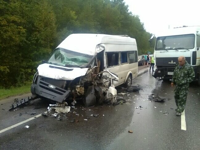 В результате столкновения маршрутки и фуры в Тамбовской области пострадали 8 человек, фото-1