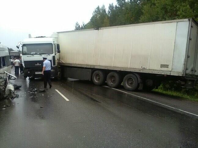 В результате столкновения маршрутки и фуры в Тамбовской области пострадали 8 человек, фото-2