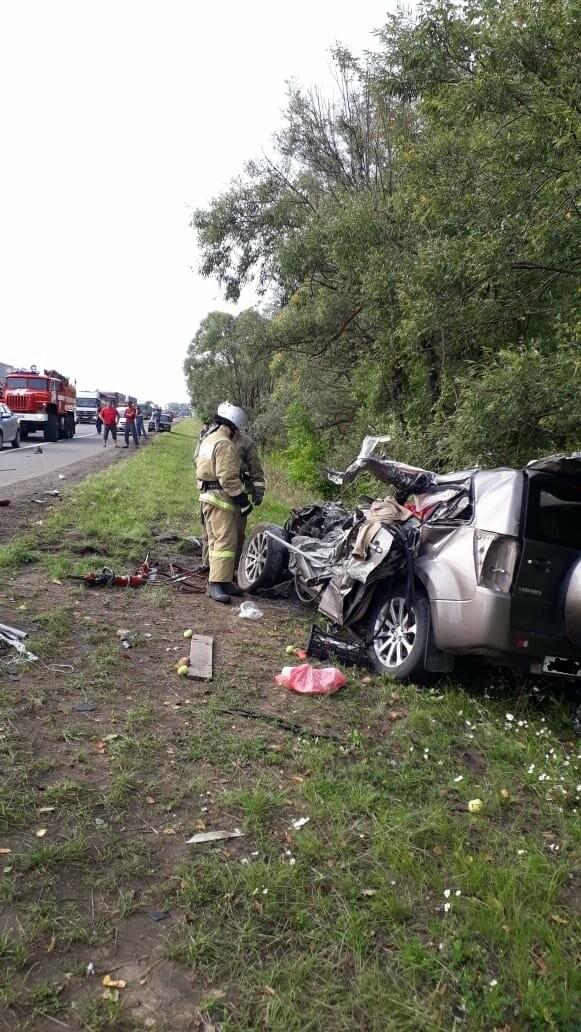 На федеральной дороге в Тамбовской области в столкновении зерновоза и двух «легковушек» погиб человек: видео, фото-9