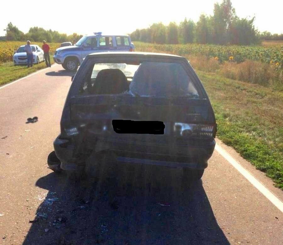 В Тамбовской области два подростка на мопеде врезались в легковушку, фото-2