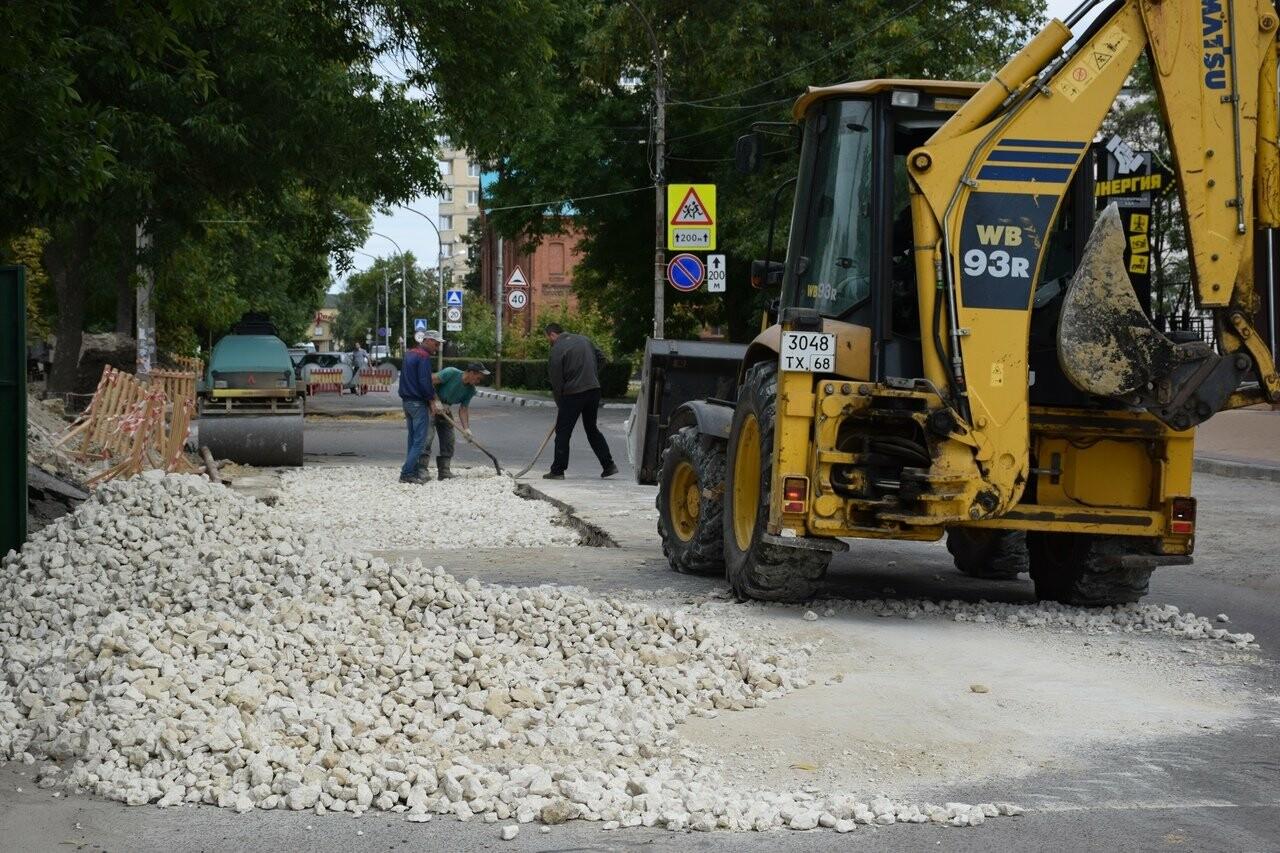 На улице Сергеева-Ценского в Тамбове восстанавливают асфальтовое покрытие, фото-1