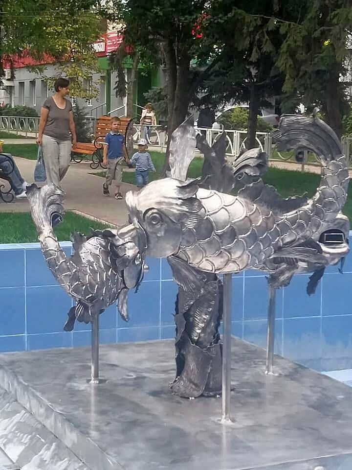 В Речном сквере Тамбова на Гастелло завелись «Рыбки», фото-2