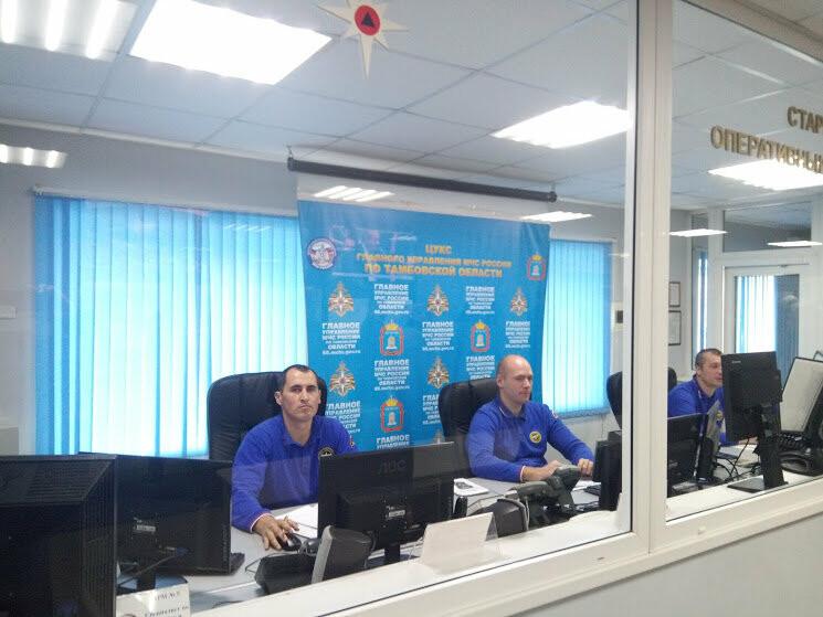 В тамбовском ГУ МЧС показали работу кризисного центра и передвижного пункта управления, фото-1
