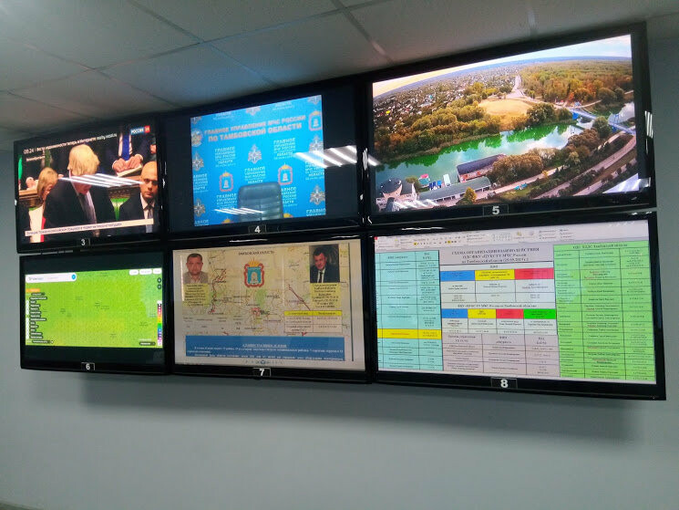 В тамбовском ГУ МЧС показали работу кризисного центра и передвижного пункта управления, фото-2