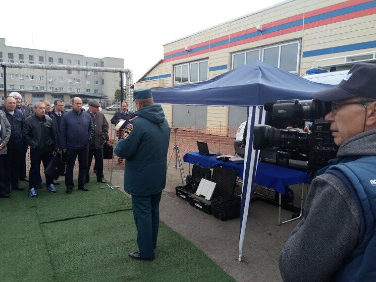 В тамбовском ГУ МЧС показали работу кризисного центра и передвижного пункта управления, фото-6