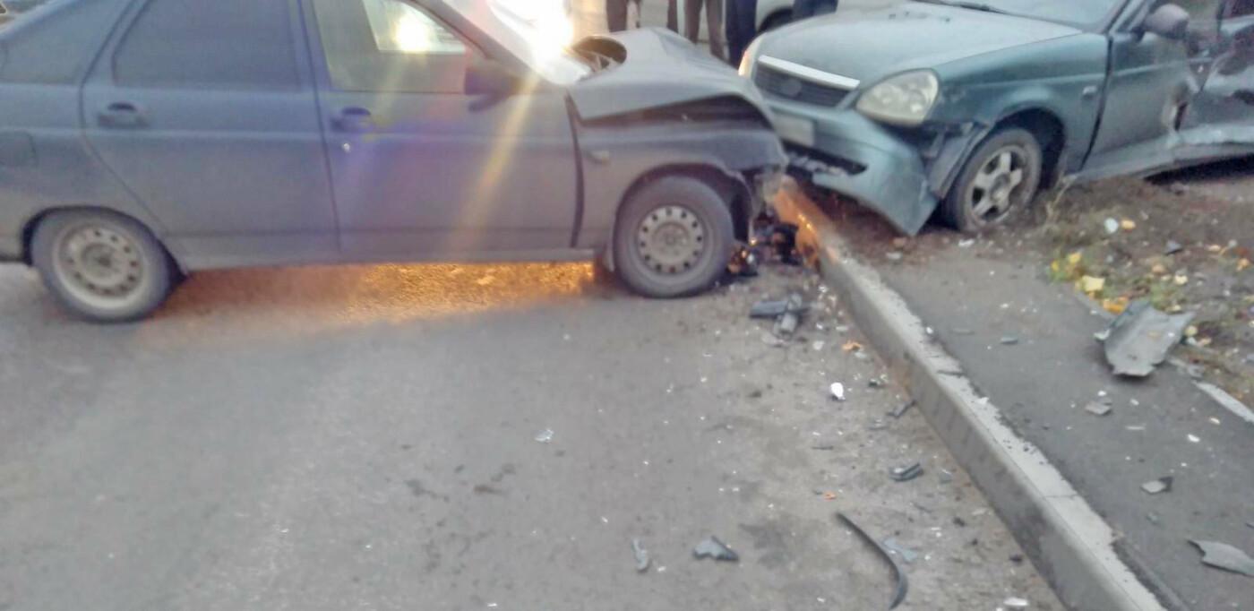 На севере Тамбова после столкновения двух легковушек госпитализировали мужчину, фото-1