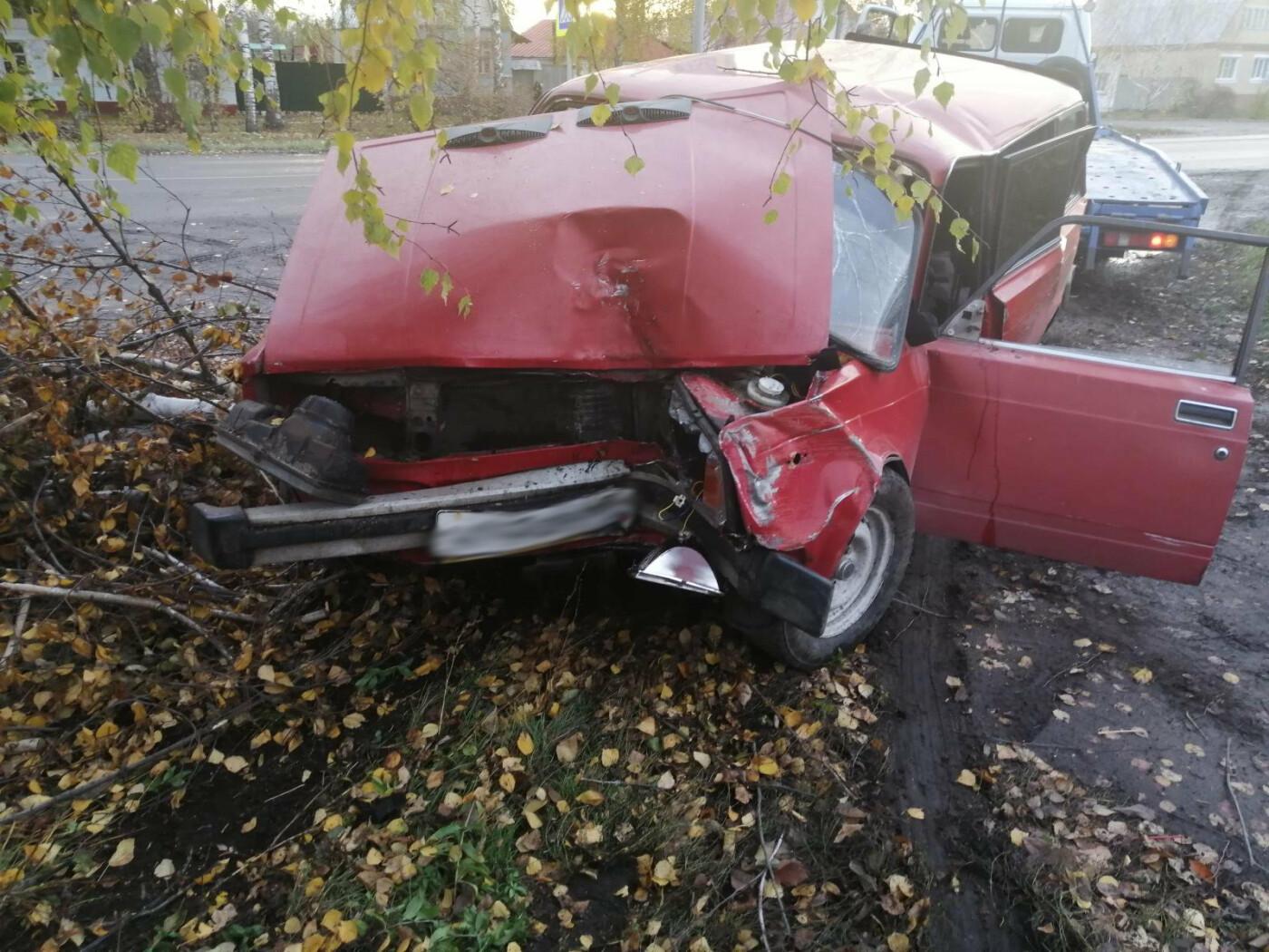 В Моршанске 16-летний подросток сел за руль авто и врезался в дерево, фото-1